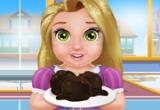 لعبة طبخ طفلة ربانزل كرات الكعك بالشكولاته