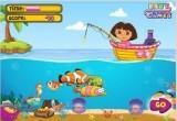 لعبة دورا تصيد السمك