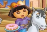 لعبة تركيب صور الملكة دورا علي الحصان