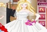 لعبة تلبيس باربي فستان الزفاف الجذاب