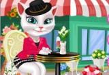 لعبة تلبيس القطة الناطقة