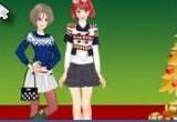 لعبة تلبيس بنات ملابس حمراء