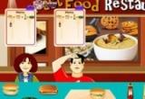 لعبة مطعم الوجبات السريعة على الارصفة