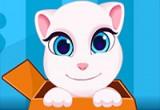 لعبة اطعام القطة المتكلمة انجيلا