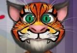 لعبة رسم الوشم على وجه القط الناطق