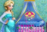 لعبة ديكور غرفة إلسا الحامل الأمومة