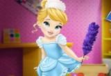 لعبة تنظيف المنزل مع الصغيرة سندريلا