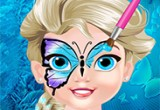 Baby Elsa Butterfly Face Art games