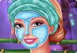 لعبة تنظيف وجه الاميرة باربي
