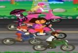 لعبة سباق دراجات دورا