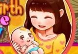 لعبة توليد المرأة الحامل والعناية بطفلها