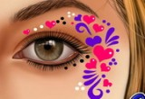 لعبة رسم التاتو على وجه الأميرة
