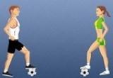 لعبة مهارات ترقيص الكرة