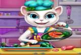 لعبة الطبخ مع القطة الناطقة انجيلا
