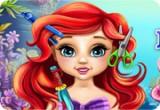لعبة تصفيف شعر الطفلة اريل حورية البحر