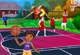 لعبة تلبيس الطفل لاعب كرة السلة