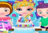 لعبة حفلة عيد ميلاد الطفلة باربي المجمدة