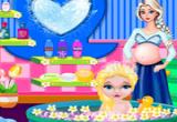 العب مع الطفلة إلسا المجمدة وفقاعات الحمام