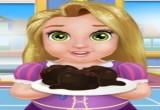 لعبة طبخ كرات الكيك مع الطفلة رابونزيل