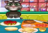 لعبة طبخ الهمبرجر مع الطفل توم