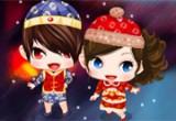 لعبة تلبيس الطفل الصيني في راس السنة