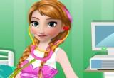 لعبة المجمدة آنا طبيبة الاطفال