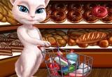 العاب القطة انجيلا في رحلة تسوق اون لاين