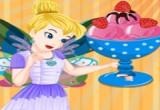 لعبة طبخ الايس كريم بالفراولة مع جنية الزهور تنكربيل