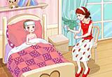 لعبة تلبيس البنت المريضة