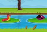لعبة الحلزون بوب في النهر